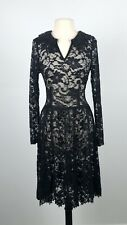 Moss & Spy Black Lace Long Sleeve Dress. SIZE 12. EUC