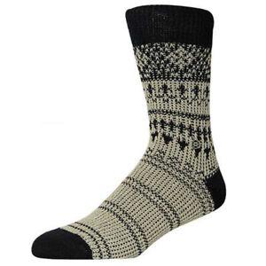 Stance Shetland Merino Wool Socks, S/M (Men's US 6-8.5), Black / Tan New