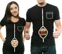 Pregnancy Funny Couple T-shirts Pregnancy Announcement Funny Maternity T-shirts