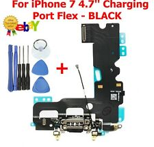 For iPhone 7 Charging Port Dock Connector Replacement With Microphone Flex BLACK
