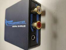 Convertidor Digital Analógico DAC Audio Óptico Coaxial(RCA) + 3 mts Cable Fibra