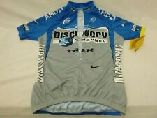 Nike pro Cycling Jersey Discovery Channel sz M half zip men NWT lance armstrong