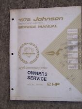 1972 Johnson 2 Hp 2R72 Outboard Owner Service Manual See Our Store For More Rr
