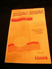 """Partition Joseph! Joseph! Cahn Chaplin Palex Sheet Music"""