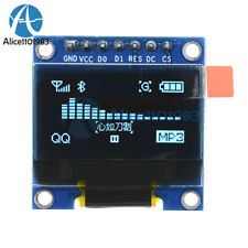 "Blue 3-5V 0.96"" SPI Serial 128X64 OLED LCD LED Display Module for Arduino"