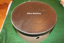 Vintage Ethol Hotelling Round Hat Box with Lid Striped Design