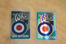 The Who  - 2 x Laminated Backstage Pass - Lot # 3 - FREE SHIPPING -