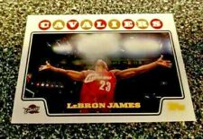 LEBRON JAMES 2008/09 TOPPS GOLD FOIL #23 LAKERS CAVALIERS