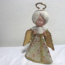Vintage Angel Tree Topper 50s Cardboard  Gold Japan Mid Century Christmas Rare