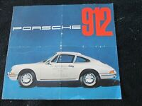 1965 1966 Porsche 912 Original Catalog (4-cyl 911) En / De / Fr Sales Brochure