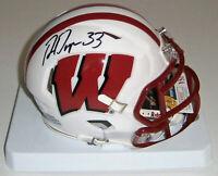WISCONSIN Ron Dayne signed SPEED mini helmet w/ #33 JSA COA AUTO Autographed UW