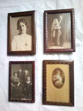 4 x  Jugendstilrahmen um 1900 Glas Foto