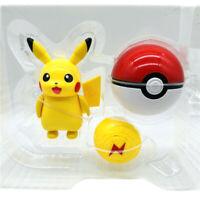 Pikachu Deformation Doll Pokemon Action Figure Poké Ball Child Gift Toy New Kids