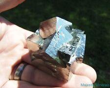 LARGE Lusterous Entwined Interlocking Pyrite Cube Cluster___Navajun Mine , Spain
