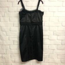 White House Black Market Formal Cocktail Dress Satin Sheath 10 $148