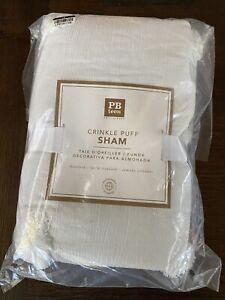 New-Pottery Barn Teen Dot Crinkle Tufted Sham Standard  White  NEW