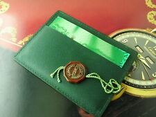 GENUINE ROLEX GREEN LEATHER CARD HOLDER/BOOKLET W RED TAG
