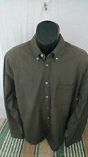 Izod Plaid Button Down Long Sleeve Shirt Size Lage