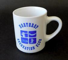Northrop Recreation Club NRC Vintage Aerospace Coffee Mug 1970s  Blue White CA