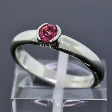 2004 Tiffany & Co. 925 Sterling Silver Pink Sapphire Stack Band Ring Size 5.75