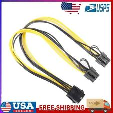 8Pin to Graphics Video Card Double PCI-E 8Pin(6Pin+2Pin)Power Supply Cable