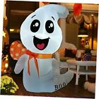 4 FT Halloween Inflatable Outdoor White Cute Ghost, Blow Up Yard Decoration
