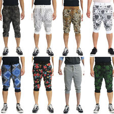 Men's Athletic 3/4 Leg Gym Workout Active Yoga Pants Capri Jogger ShortS -Part-1