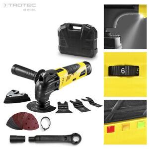 TROTEC PMTS 10-12V Outil multifonctions avec nombreux accessoires et coffre