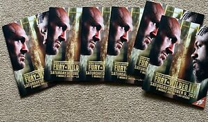TYSON FURY V DEONTAY WILDER III OFFICIAL ON SITE FIGHT PROGRAMME PLUS BOUT SHEET