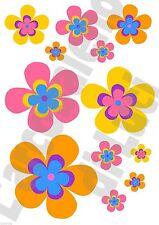 12 ADESIVI WINDOW STICKERS FINESTRA FIORI FLOWER FLOWERS 2 FINESTRE VETRI