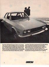 Vintage automobile Print car ad Fiat 124 Sport Coupe  nice old auto  1970 ad