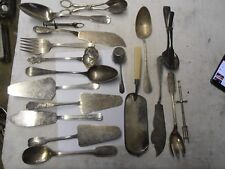 LOT DE 19 COUVERTS EN  METAL ARGENTE  ARGENTERIE ANCIENNE