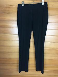 Basque Petite Black Business Work Pants Zippered Side Pockets Size 10 EUC