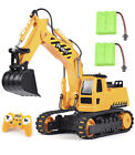 DOUBLE E Remote Control Excavator Toy With 2 Rechargeable Batteries New