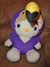"""Hello Kitty Purple Tucan Parrot Bird Costume 10"""" stuffed plush Sanrio Nakajima"""