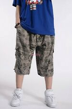 Plus Size Men's Cargo Military Shorts Pants Summer Loose Overalls Beach Trousers