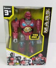 """Cybotronix MARS Red Revo Walking Robot  7"""" Multi-Articulated Arms Light-Up Eyes"""
