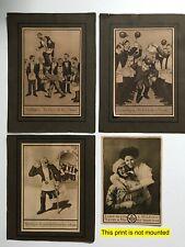 Vtg Antique Mason Masonic 1st thru 3rd Degree Prints & Other Fun Mason Print