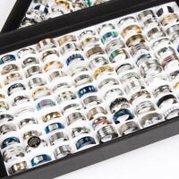 50pcs/lot mix styles men's women's fashion stainless steel jewelry rings gifts