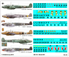 1/144 Mehusla Decals - German Bf 110 C D E F Me 110 # YK-10