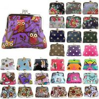 Ladies Cupcake/Flower/Polka dot/Owl/Butterfly Oilcloth Coin Purse Girls Wallet