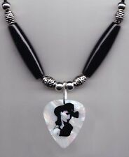Terri Clark Abalone Mother of Pearl Signature Guitar Pick Necklace - 2013 Tour