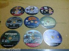 LOT OF 9 DISC ONLY PS2 GAMES USED