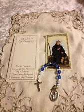 "NEW HAND-DESIGNED ""ST.Peregrine ""COLON CANCER CHAPLET"", Prayer Bklt FREE SHPG"