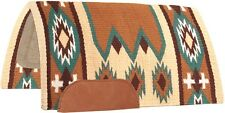 Laredo Navajo Saddle Pad 100% New Zealand Wool Show Blanket - Tan, Brown, Teal