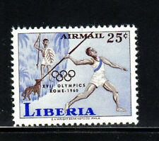 LIBERIA #C126  1960  OLYMPIC GAMES     MINT  VF NH  O.G