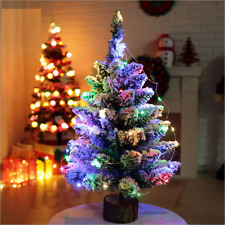 50cm Mini Table Top Snow Christmas Tree Decoration LED Decor Home Xmas Gift