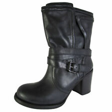 High (3 in. and Up) Leather Solid Boots for Women