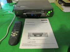 Vintage Vcr Sanyo Vwm-380 4-Head Vcr With Remote- Great Working Condition!