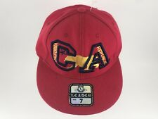 CALIFORNIA REPUBLIC Fitted Sz 7 Cap Hat CALI Bear Red Caps Hats NWT Spell Out